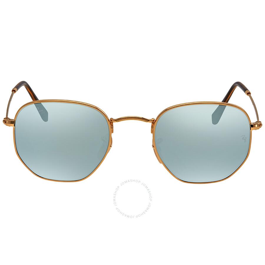 8d3df5540f Ray Ban Hexagonal Silver Flash Men s Sunglasses RB3548N 001 30 48 ...