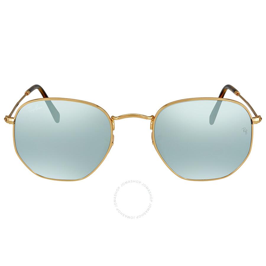 6d0ae8f237 Ray Ban Hexagonal Silver Flash Men s Sunglasses RB3548N 001 30 51 ...