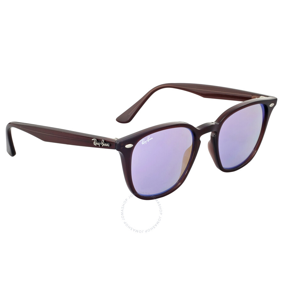 Ray ban highstreet 50mm blue gradient mirror sunglasses for Mirror sunglasses