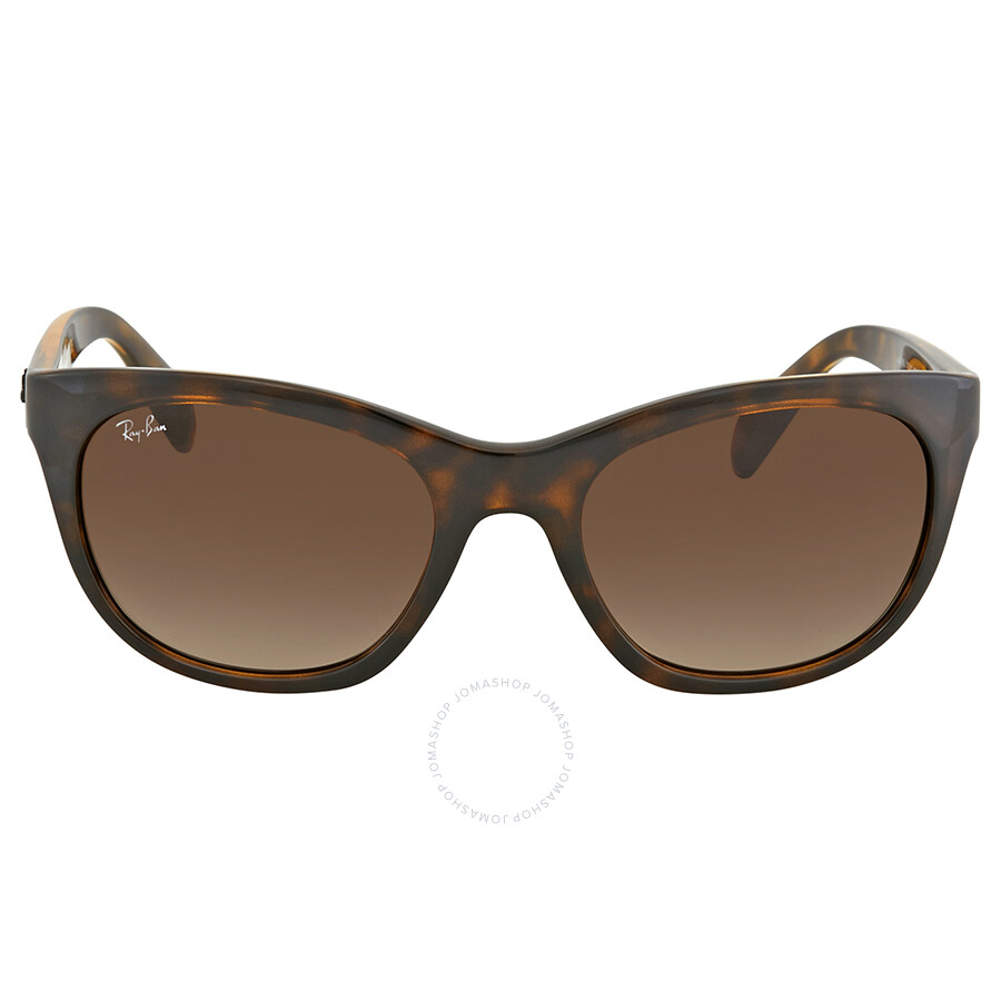 f7c5c18141 Ray Ban Highstreet Brown Gradient Rectangular Sunglasses RB4216 710 13 56  ...