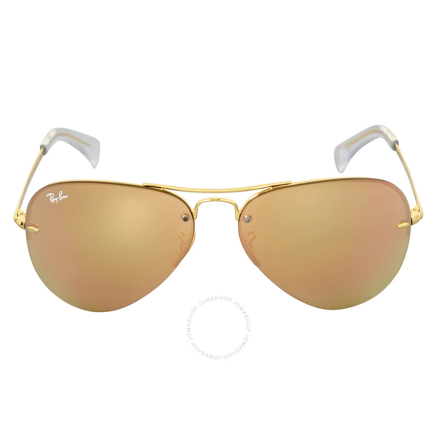 Ray-Ban Highstreet Copper Mirror Sunglasses RB3449 001 2Y 59 ... e608ac7855