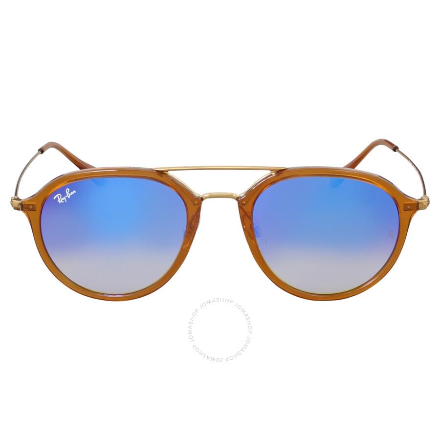 05f698d752f8c Ray-Ban Highstreet Pilot Blue Gradient Flash Sunglasses - Highstreet ...