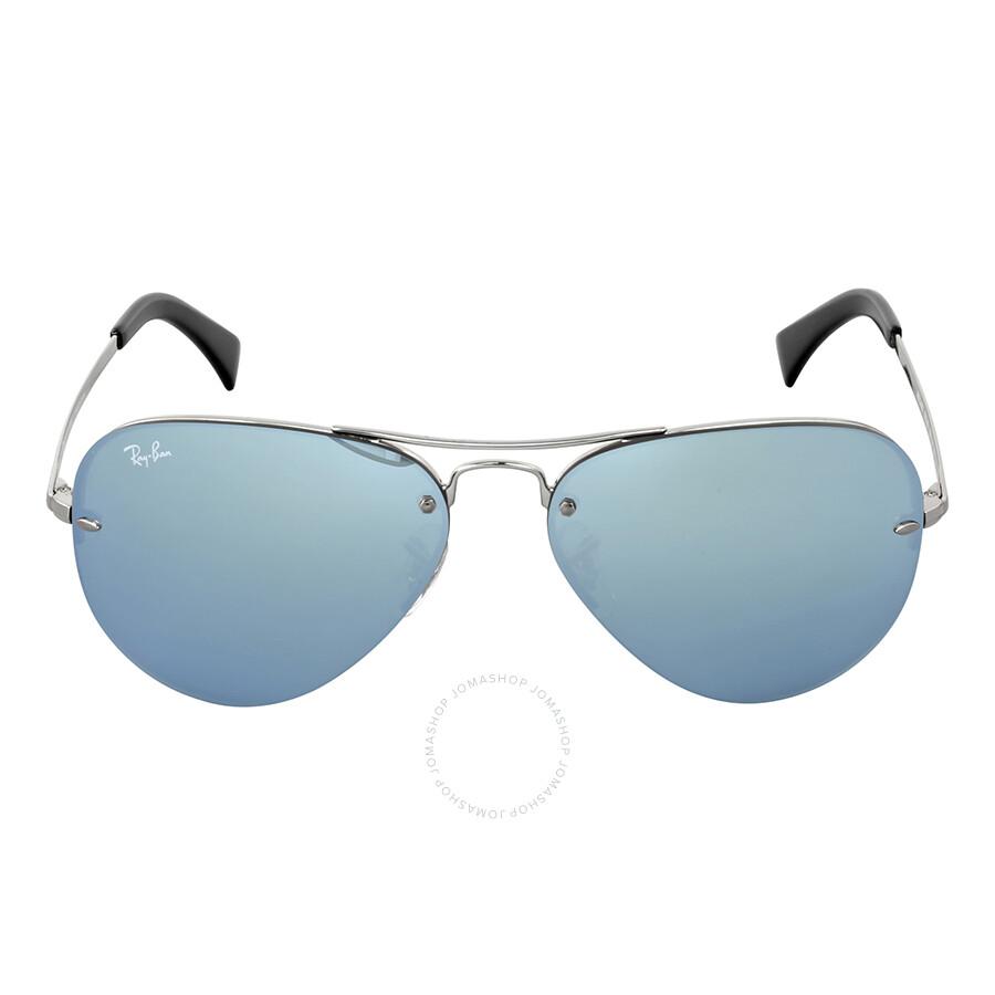 0b8d628a357 Ray-Ban Highstreet Silver Mirror Sunglasses RB3449 003 30 59 ...