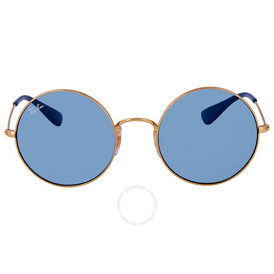 edacb444c54 ... Ray Ban Ja-jo Light Blue Classic Round Ladies Sunglasses RB3592 001 F7  50 ...