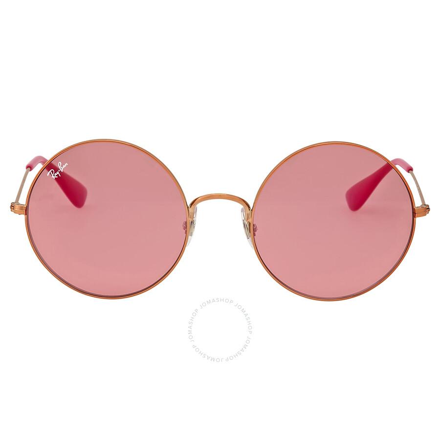 540f5803b88 Ray Ban Ja-Jo Pink Classic Round Sunglasses - Ray-Ban - Sunglasses ...