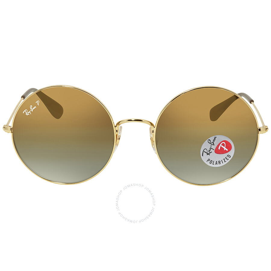 47812fffa Ray Ban Ja-jo Polarized Brown Gradient Round Ladies Sunglasses RB3592  001/T5 55 Item No. RB3592 001/T5 55