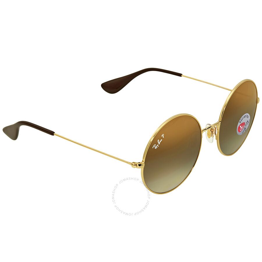 7781e2ad3d ... Ray Ban Ja-jo Polarized Brown Gradient Round Ladies Sunglasses RB3592  001 T5 55 ...