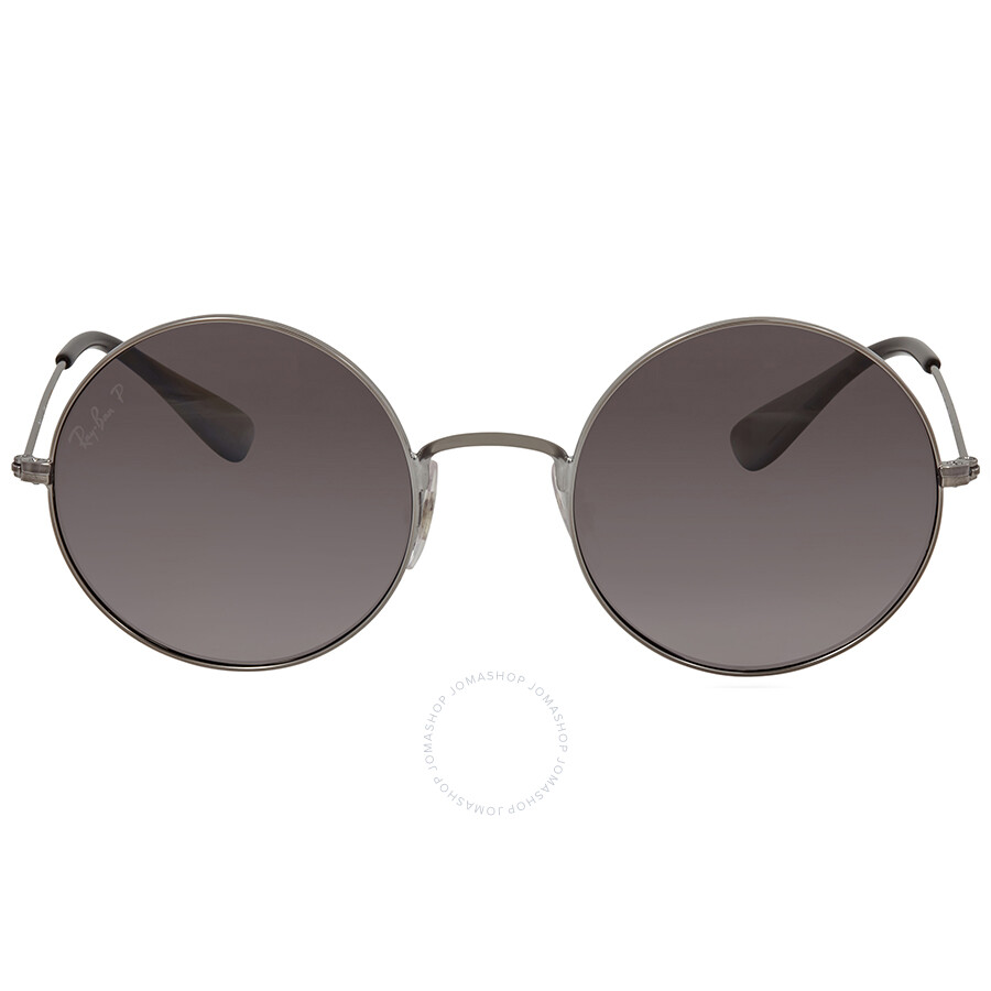 ae26155a7dc3a3 Ray Ban JA-JO Polarized Grey Gradient Round Ladies Sunglasses RB3592 004 T3  50 ...