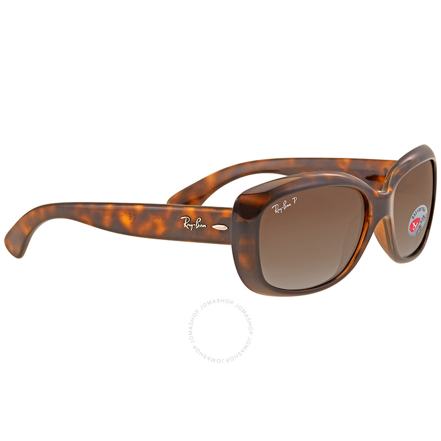 8b736481e22 ... Ray Ban Jackie Ohh Brown Gradient Rectangular Ladies Sunglasses RB4101  710 T5 58 ...