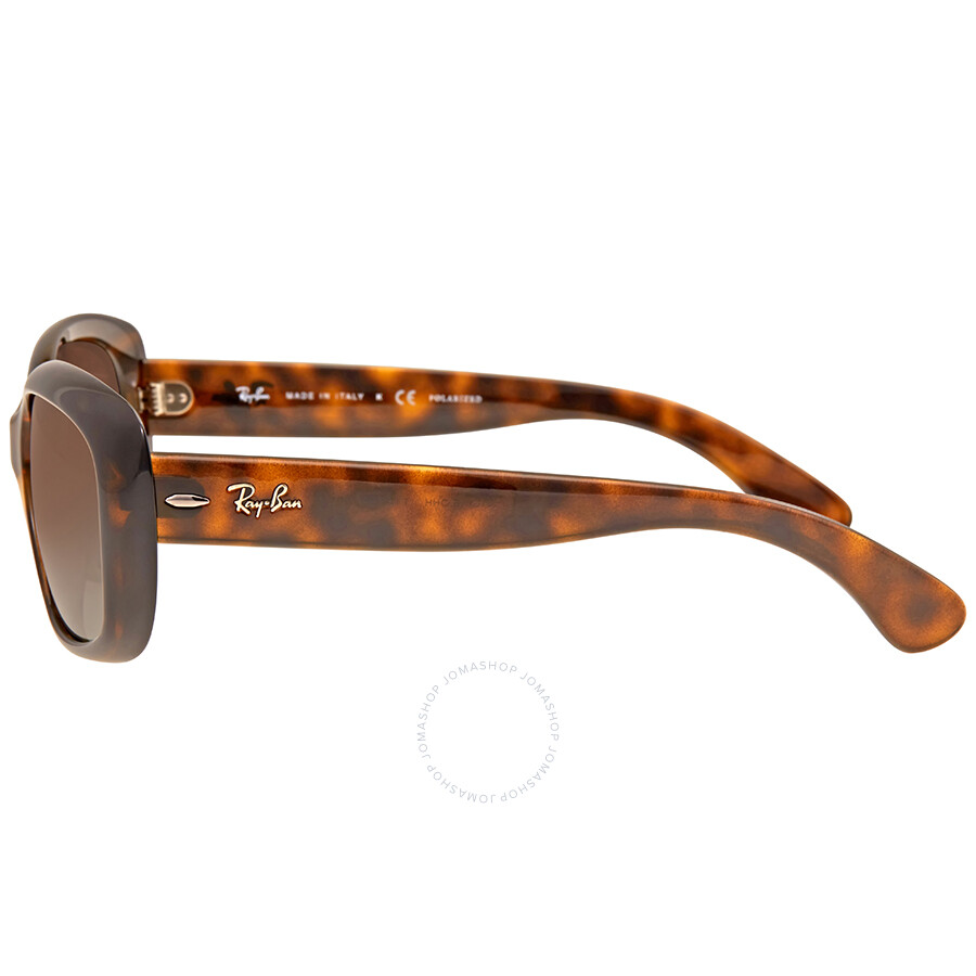 7bf792589abf ... Ray Ban Jackie Ohh Brown Gradient Rectangular Ladies Sunglasses RB4101  710/T5 58