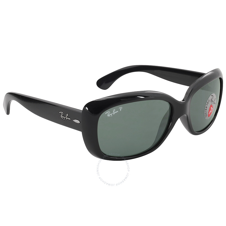 c8b68a609a ... Ray Ban Jackie Ohh Polarized Green Classic G-15 Ladies Sunglasses RB4101  601 58 ...