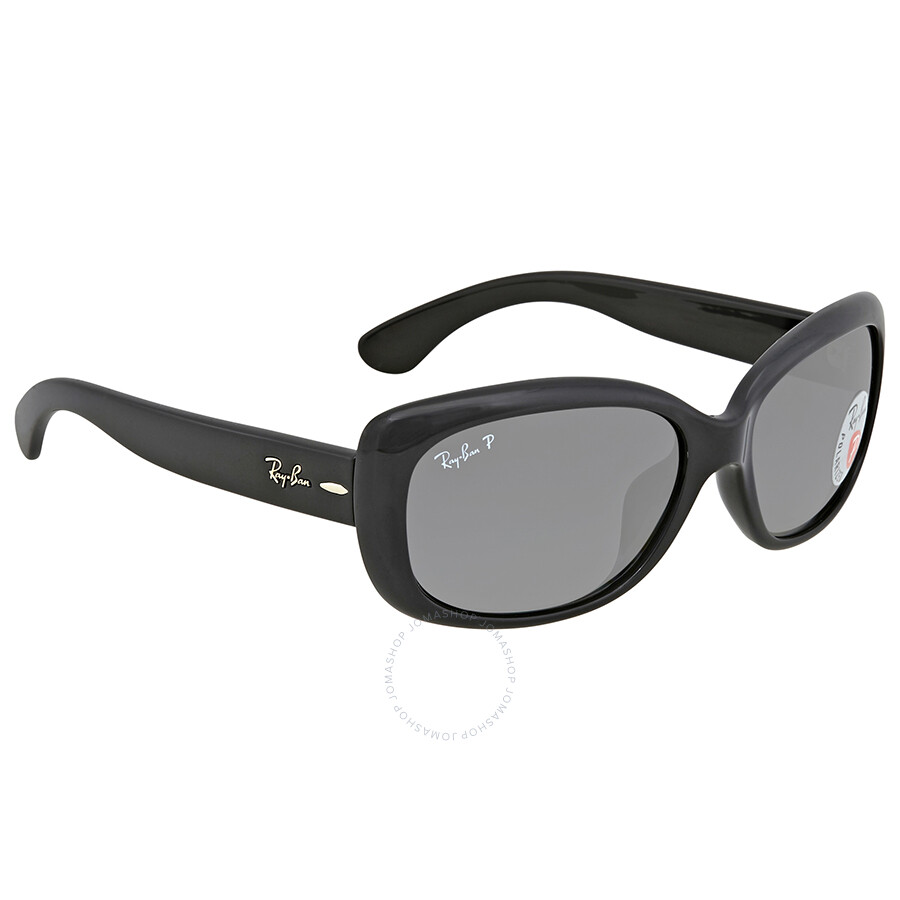 e25e87d49a Ray Ban Jackie Ohh Polarized Grey Gradient Rectangular Ladies Sunglasses  RB4101F 601 T3 58 ...