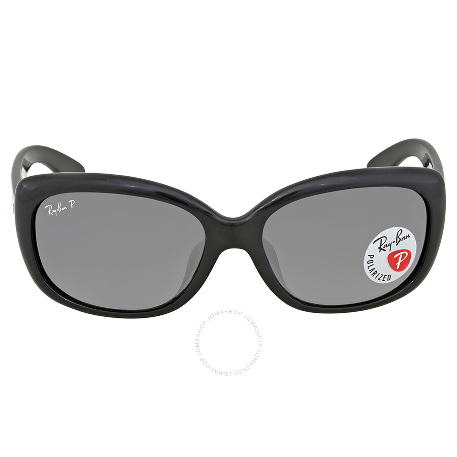 899adc68f5 ... Ray Ban Jackie Ohh Polarized Grey Gradient Rectangular Ladies Sunglasses  RB4101F 601 T3 58 ...