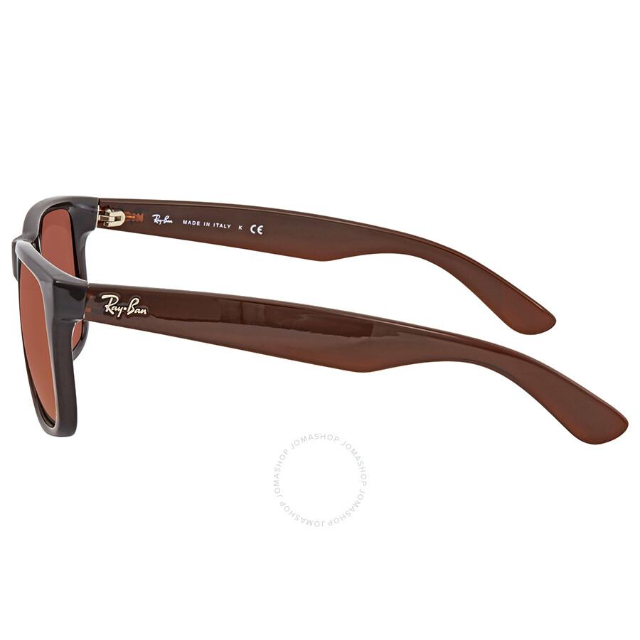 94a4f2b9f4 ... Ray Ban Justin Brown Gradient Mirror Rectangular Sunglasses RB4165 714/ S0 55