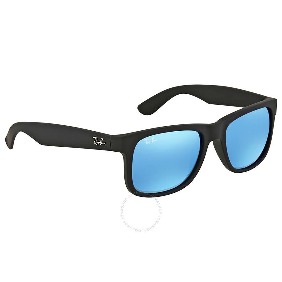 ray ban justin color mix blue mirror lens sunglasses rb4165 622 55 51 justin ray ban. Black Bedroom Furniture Sets. Home Design Ideas