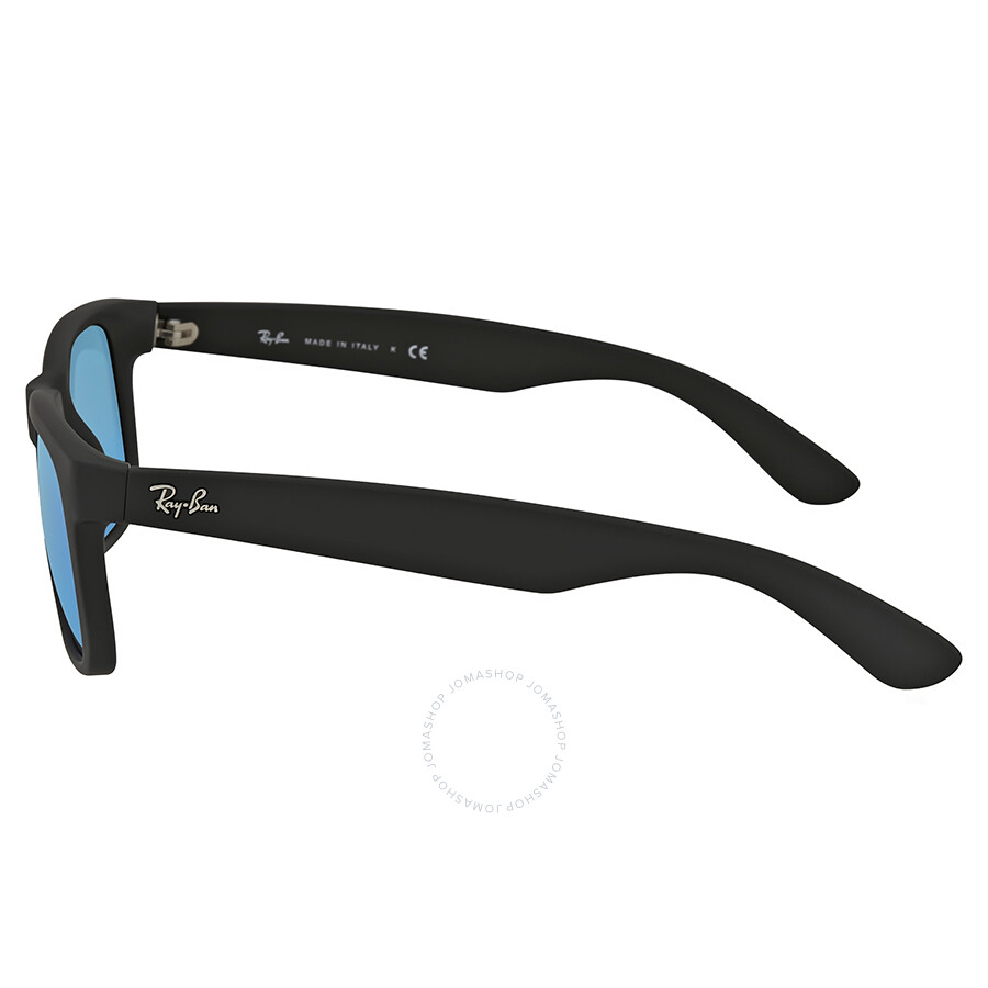 9ba5cef80b ... Ray-Ban Justin Color Mix Blue Mirror Lens Sunglasses RB4165 622 55 51