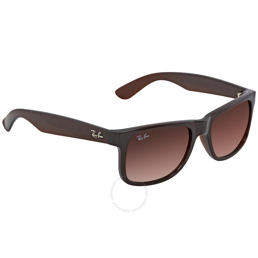 348efbbad7 Ray Ban Justin Flash Brown Gradient Mirror Rectangular Sunglasses RB4165  714 S0 51 ...