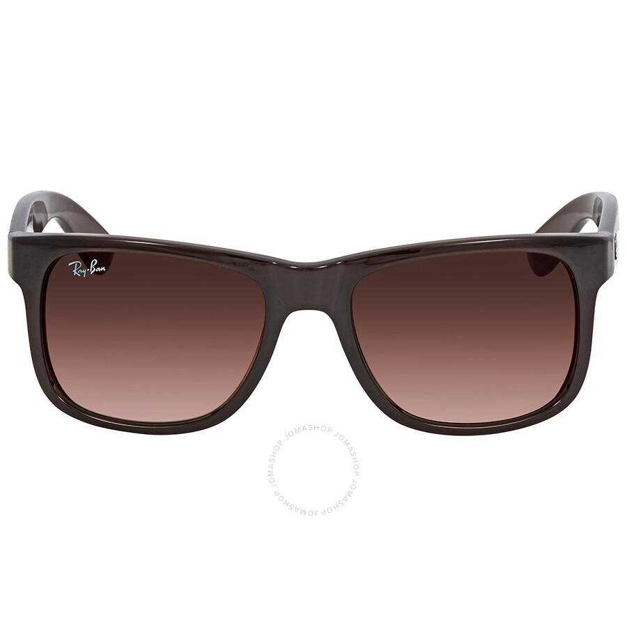 e95bda999d9a ... Ray Ban Justin Flash Brown Gradient Mirror Rectangular Sunglasses RB4165  714/S0 51 ...
