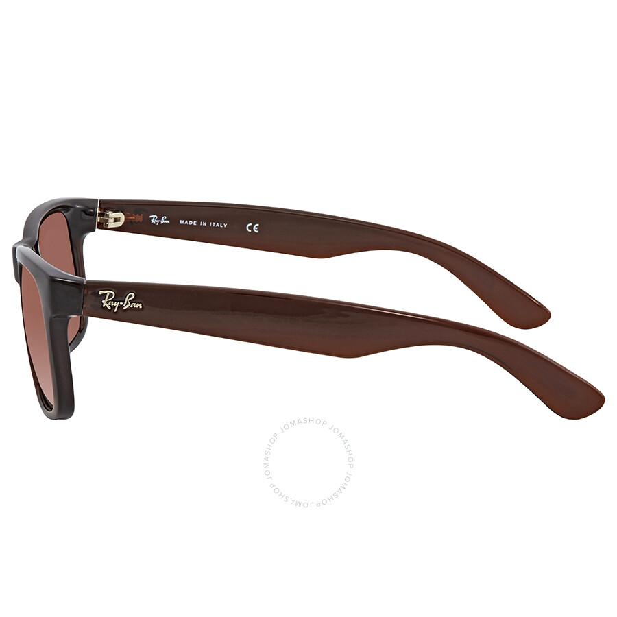 f74576e485 ... Ray Ban Justin Flash Brown Gradient Mirror Rectangular Sunglasses  RB4165 714/S0 51