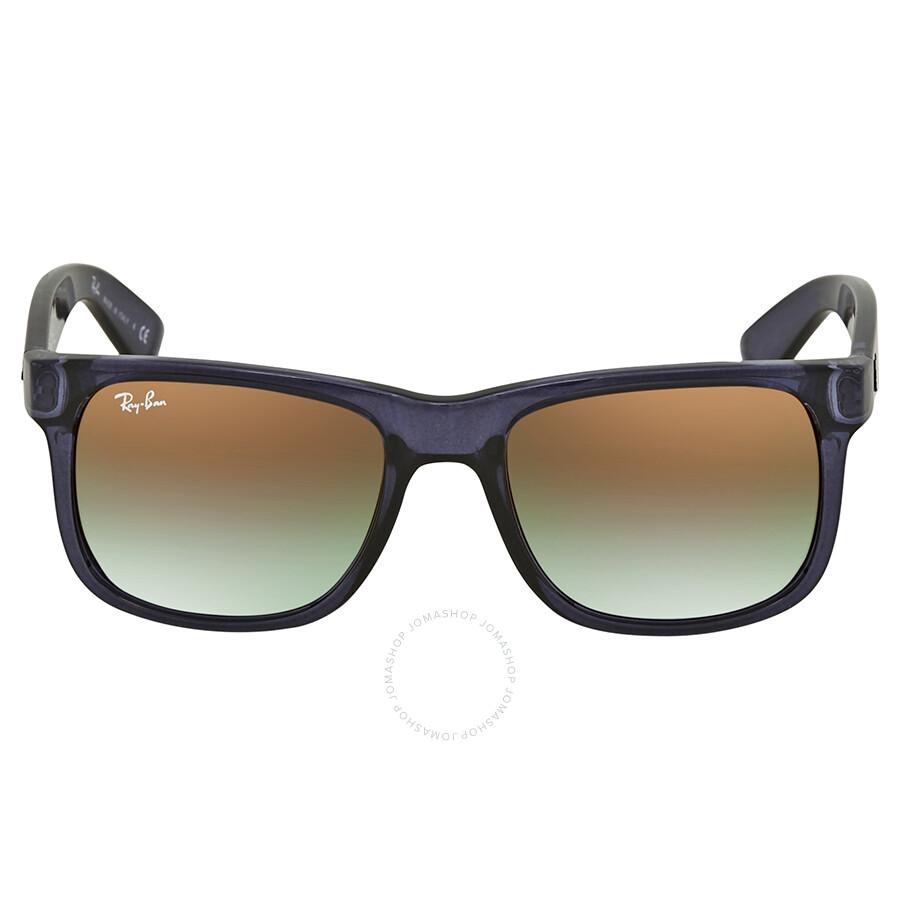 16ee2b25d495 ... Ray Ban Justin Flash Green Gradient Mirror Rectangular Sunglasses RB4165  6341T0 51 ...