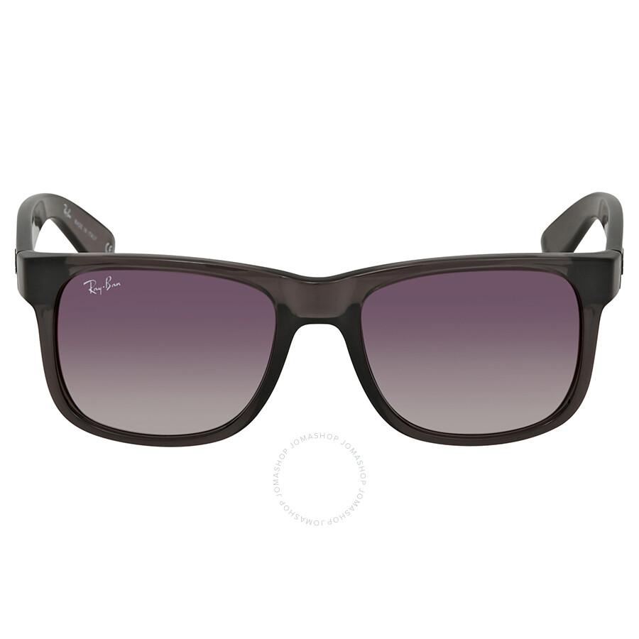 2774f34770 ... Ray Ban Justin Flash Grey Gradient Mirror 51 mm Sunglasses RB4165 606 U0  51 ...