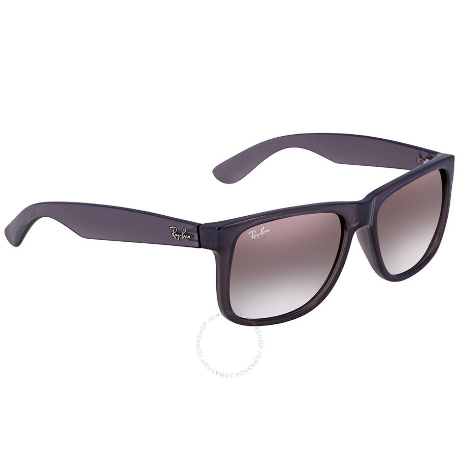 55c3136aba8a38 Ray Ban Justin Flash Grey Gradient Mirror 55 mm Sunglasses RB4165 606 U0 55  ...
