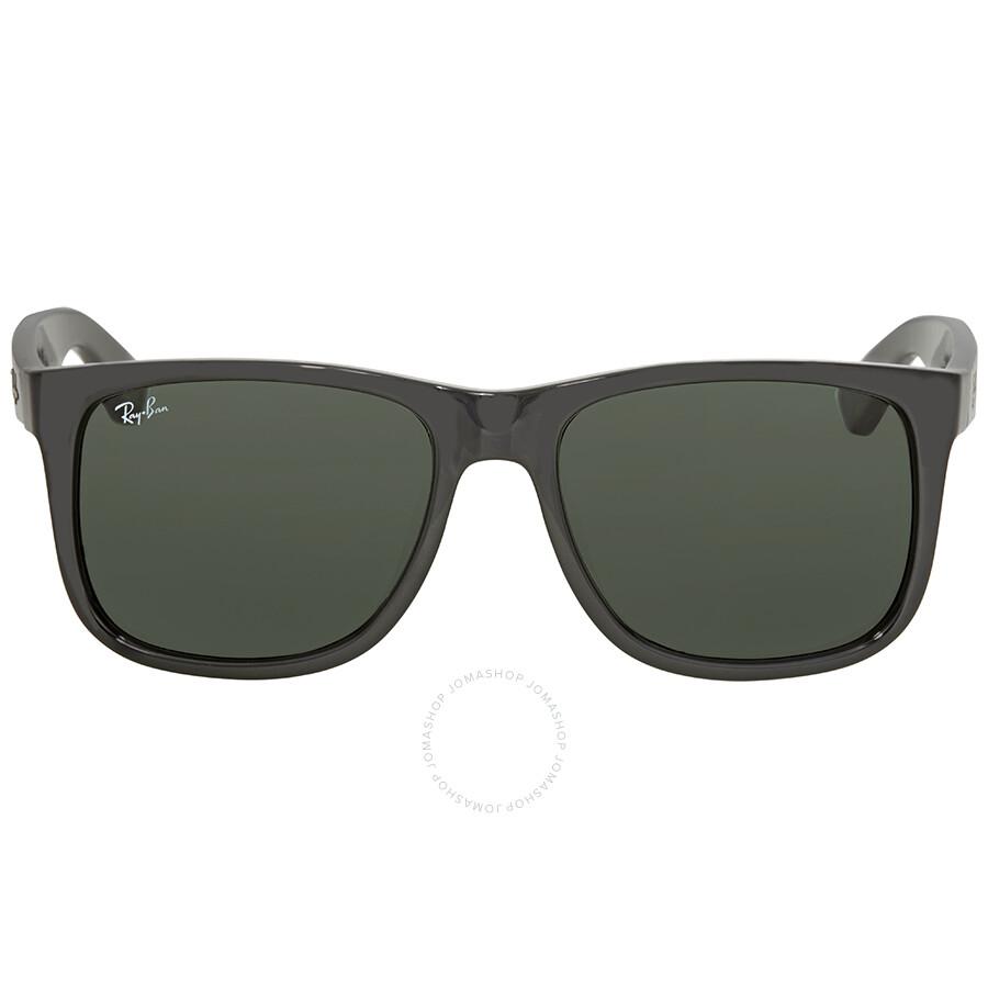 7e28d1743394 Ray Ban Justin Asian Fit Green Classic Rectangular Men's Sunglasses RB4165F  601/71 55 Item No. RB4165F 601/71 55