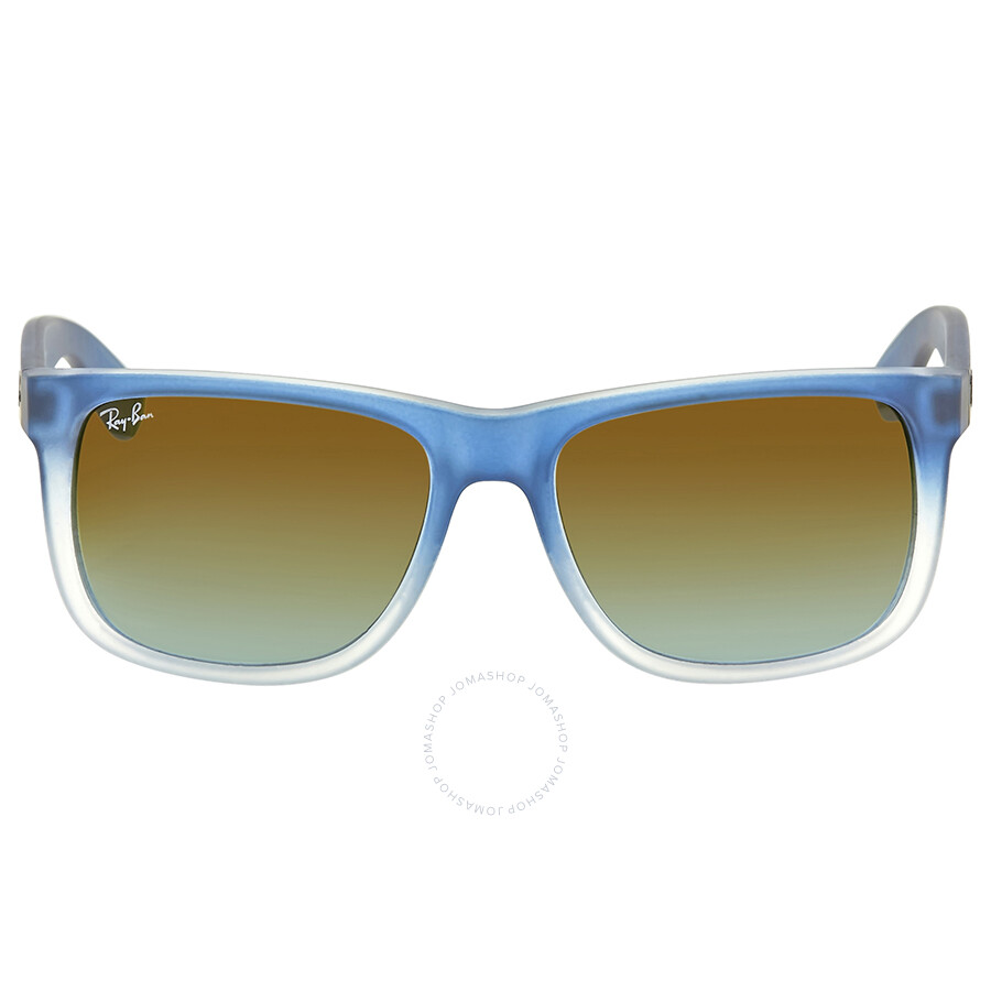 8e5431e51af Ray Ban Justin Silver Gradient Mirror Sunglasses Item No. RB4165 853 88 55