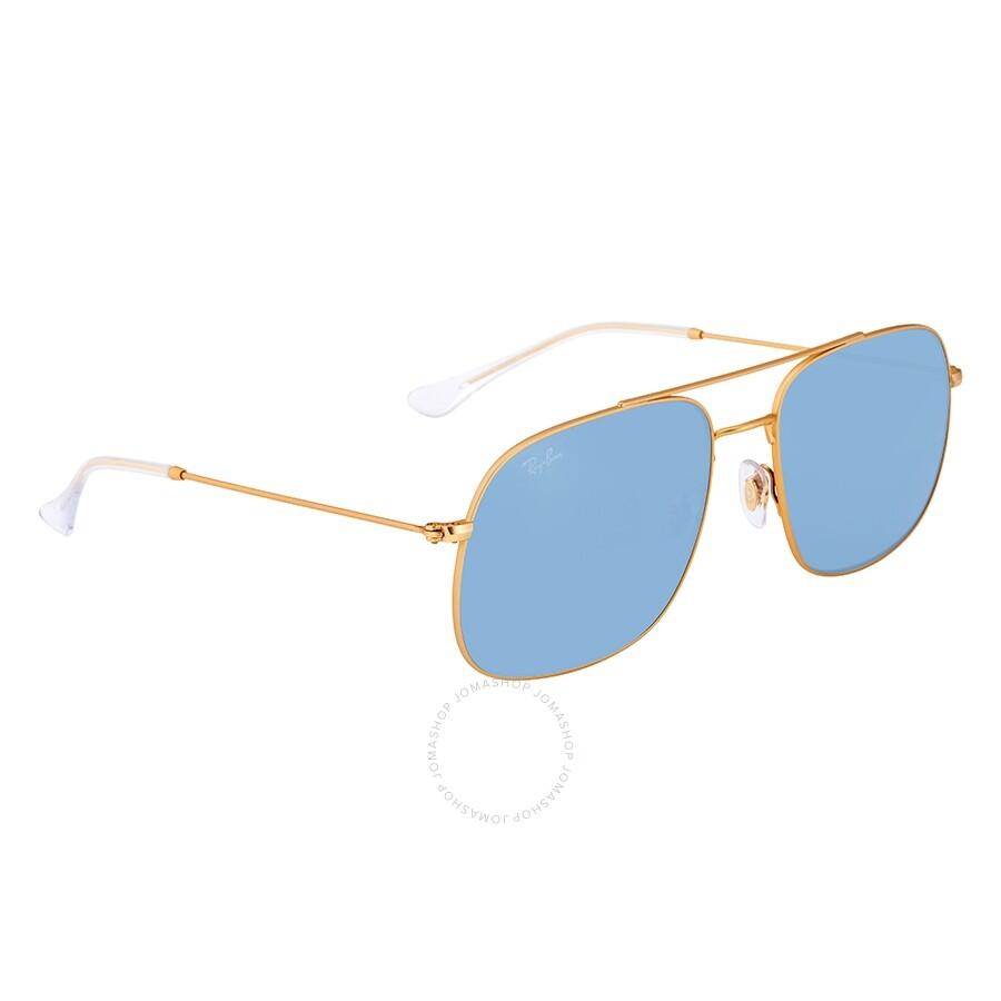 b3c478f03118 Ray Ban Light Blue Classic Square Sunglasses RB3595 901380 59 ...