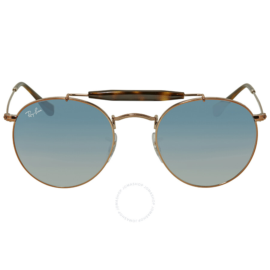 996574ff2c Ray Ban Light Blue Gradient Round Sunglasses RB3747 90353F 50 - Ray ...
