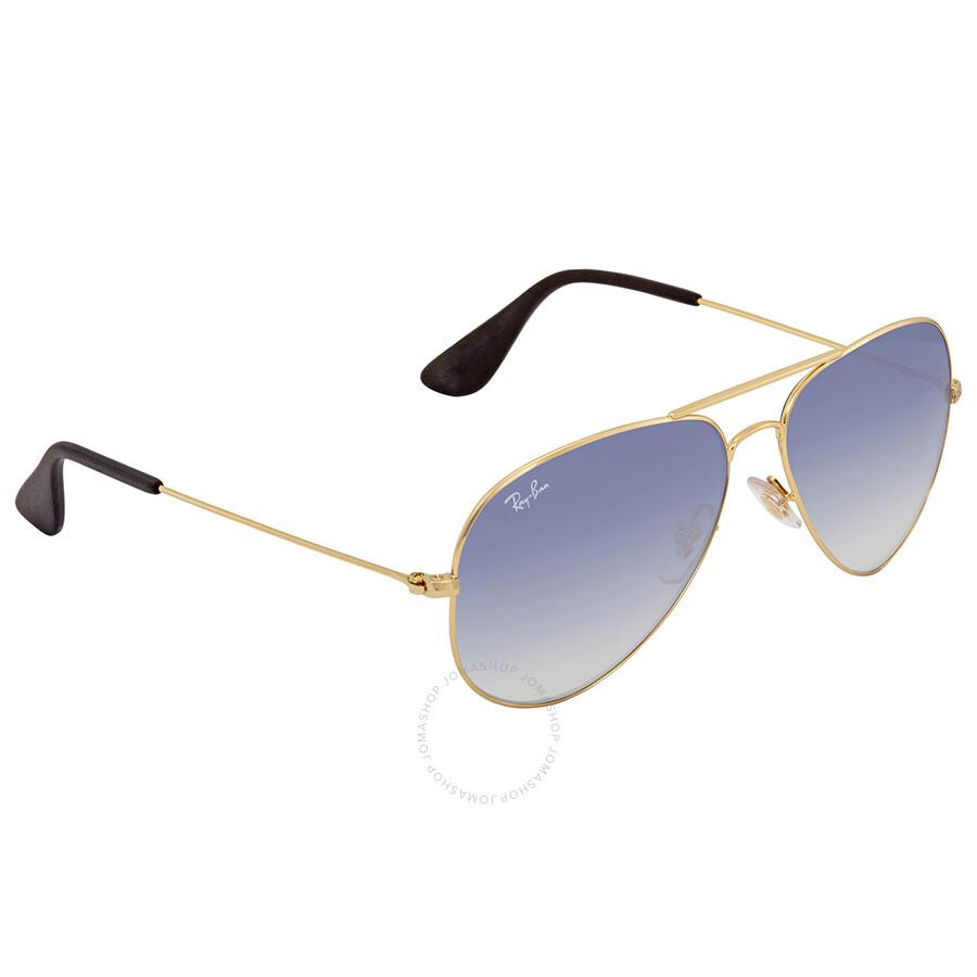 5ae01cb794 Ray Ban Light Blue Gradient Sunglasses RB3558 001 19 58 - Aviator ...