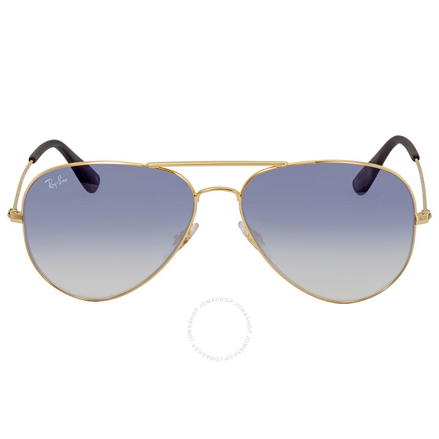 2d60493d976 Ray Ban Light Blue Gradient Sunglasses RB3558 001 19 58 - Aviator ...
