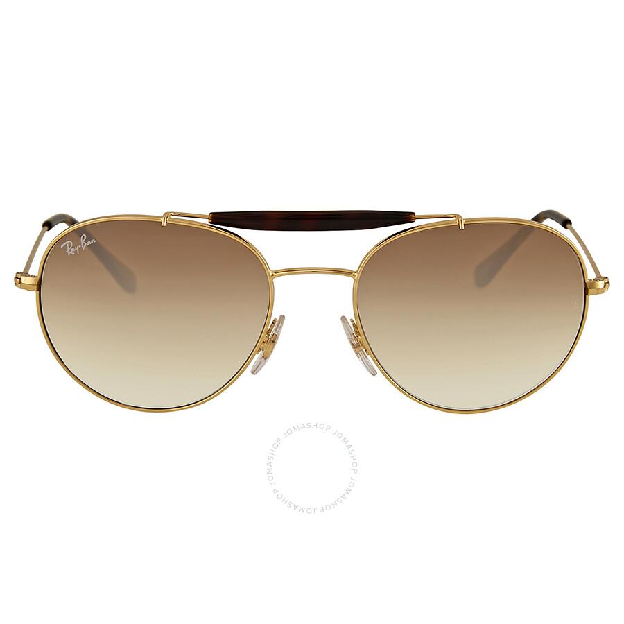 517df949729 Ray Ban Light Brown Gradient Round Sunglasses - Ray-Ban - Sunglasses ...