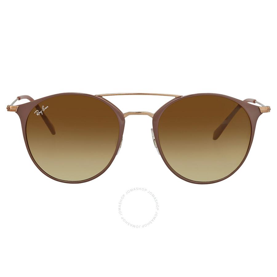 8fb41bd4ddc16 ... Ray Ban Light Brown Gradient Round Sunglasses RB3546 907151 52 ...