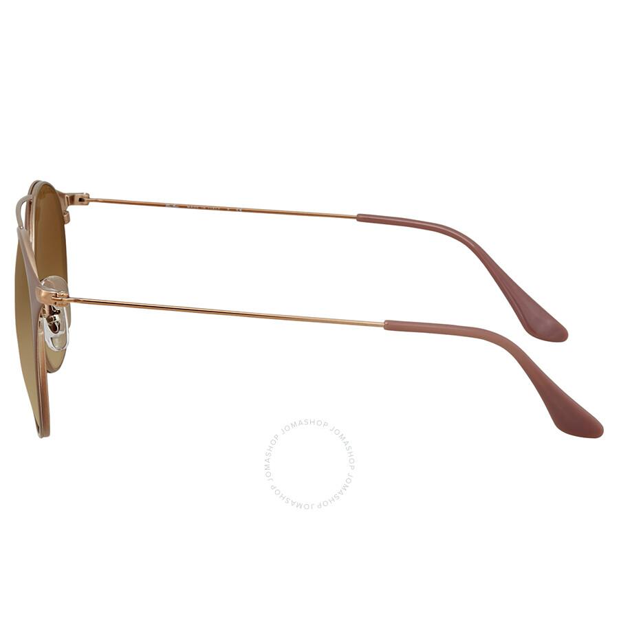 5731f10b6dbbd Ray Ban Light Brown Gradient Round Sunglasses RB3546 907151 52 ...