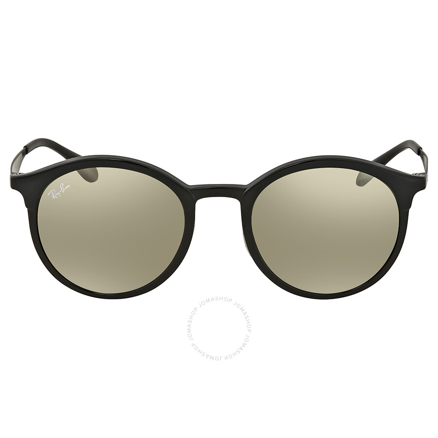 95a69d2332e ... Ray Ban Light Brown Mirror Gold Round Sunglasses RB4277 601 5A 51 ...