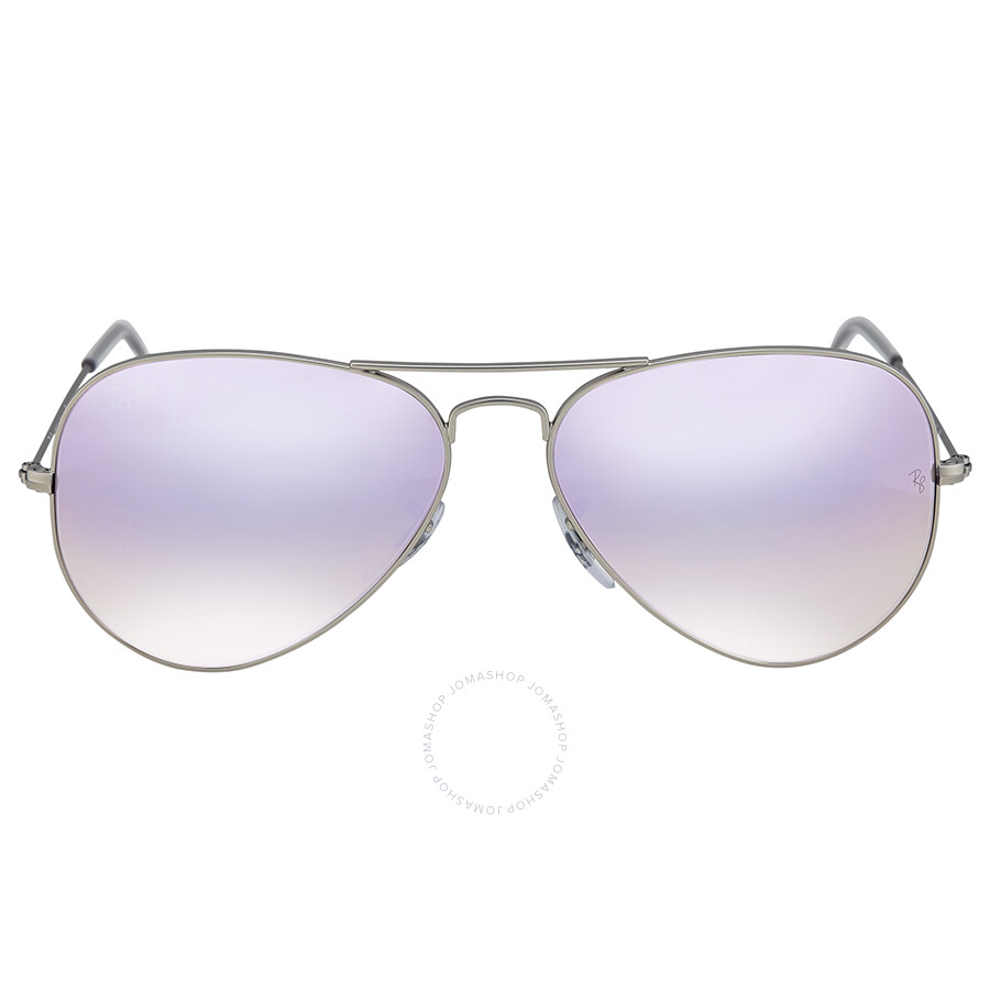 cb6f57dee4c Ray Ban Lilac Gradient Flash Aviator Sunglasses - Aviator - Ray-Ban ...