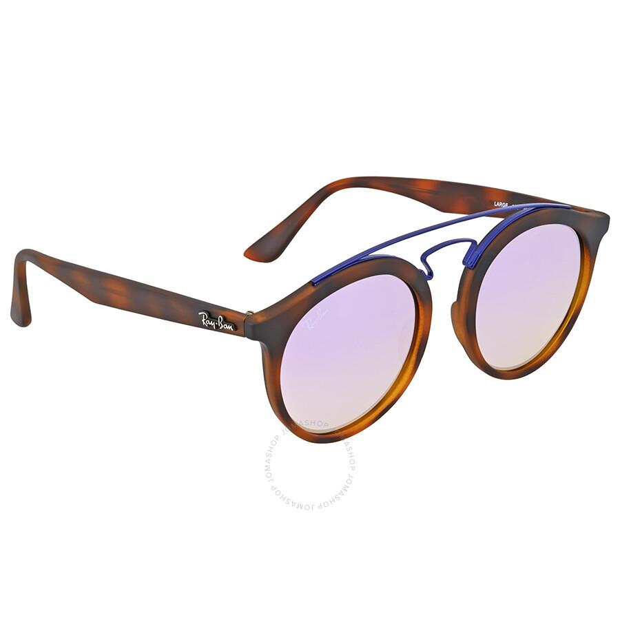 167cb7e5c9 Ray Ban Lilac Gradient Mirror Round Sunglasses - Gatsby - Ray-Ban ...