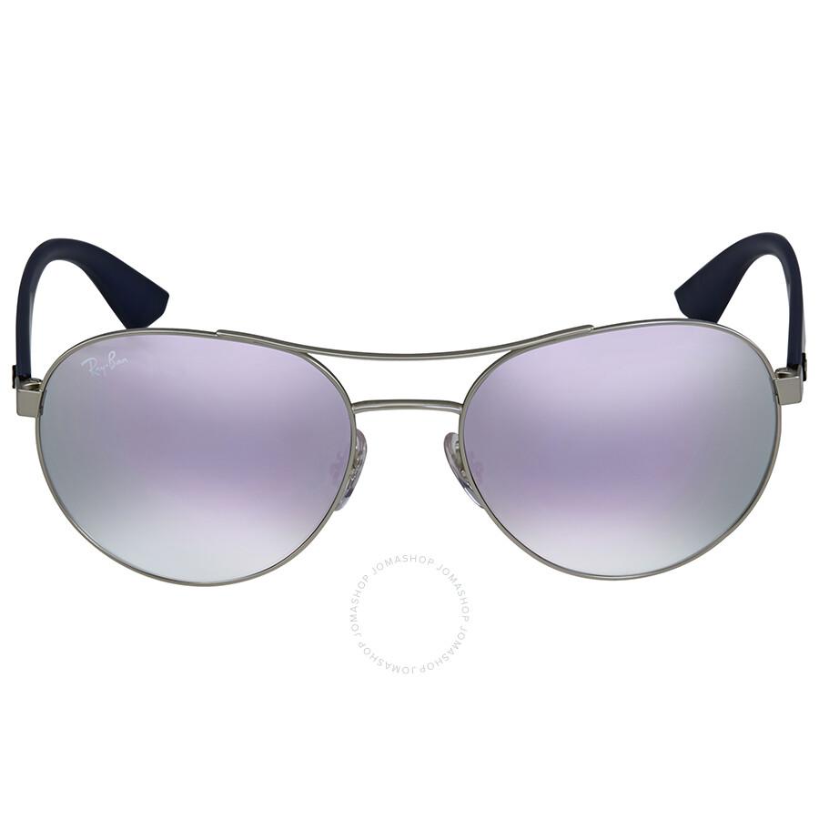 775b59f8e4 Ray-Ban Lilac Mirror Sunglasses - Round - Ray-Ban - Sunglasses ...