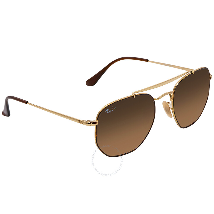db8d08165a Ray Ban Marshal Brown Gradient Square Sunglasses RB3648 910443 54 ...