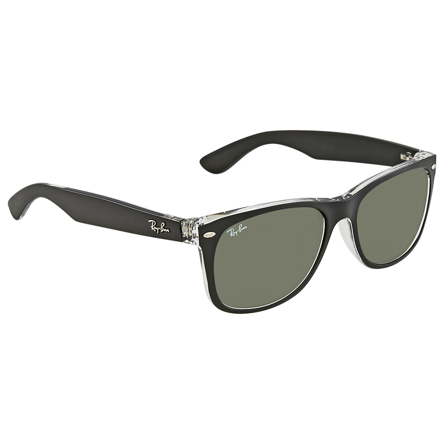 86c6c88a1bd2c Ray Ban New Wayfarer Asian Fit Green Classic G-15 Square Men s Sunglasses  RB2132F 6052 ...