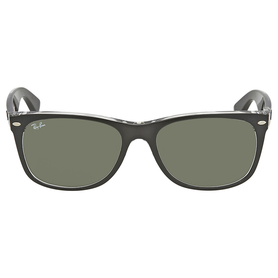 f8175d7bfd ... Ray Ban New Wayfarer Asian Fit Green Classic G-15 Square Men s  Sunglasses RB2132F 6052 ...