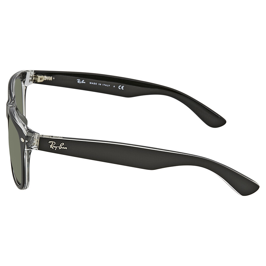 543f3eede8 ... Ray Ban New Wayfarer Asian Fit Green Classic G-15 Square Men s  Sunglasses RB2132F 6052