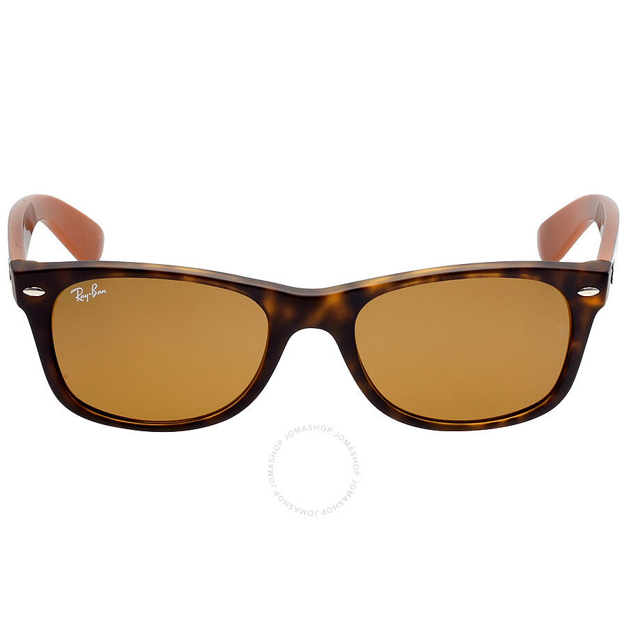 Ray Ban New Wayfarer Bicolor Brown Classic B-15 Sunglasses RB2132 6179 52  ... 578be6acc8