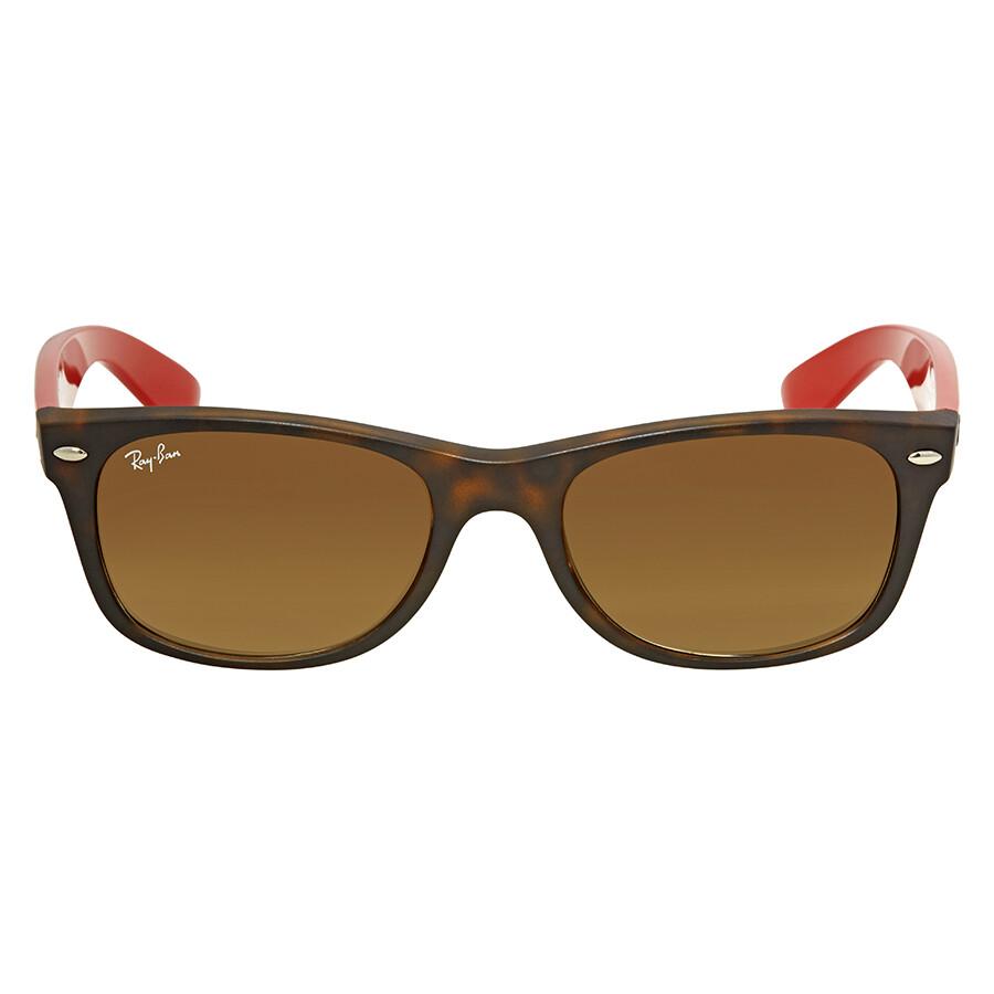 151c1346b9 Ray Ban New Wayfarer Bicolor Brown Gradient Square Sunglasses RB2132 618185  52 ...