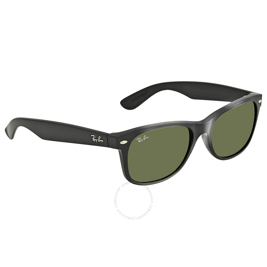9a563b99352 Ray-Ban New Wayfarer Black 55mm Sunglasses RB2132 901L 55-18 ...