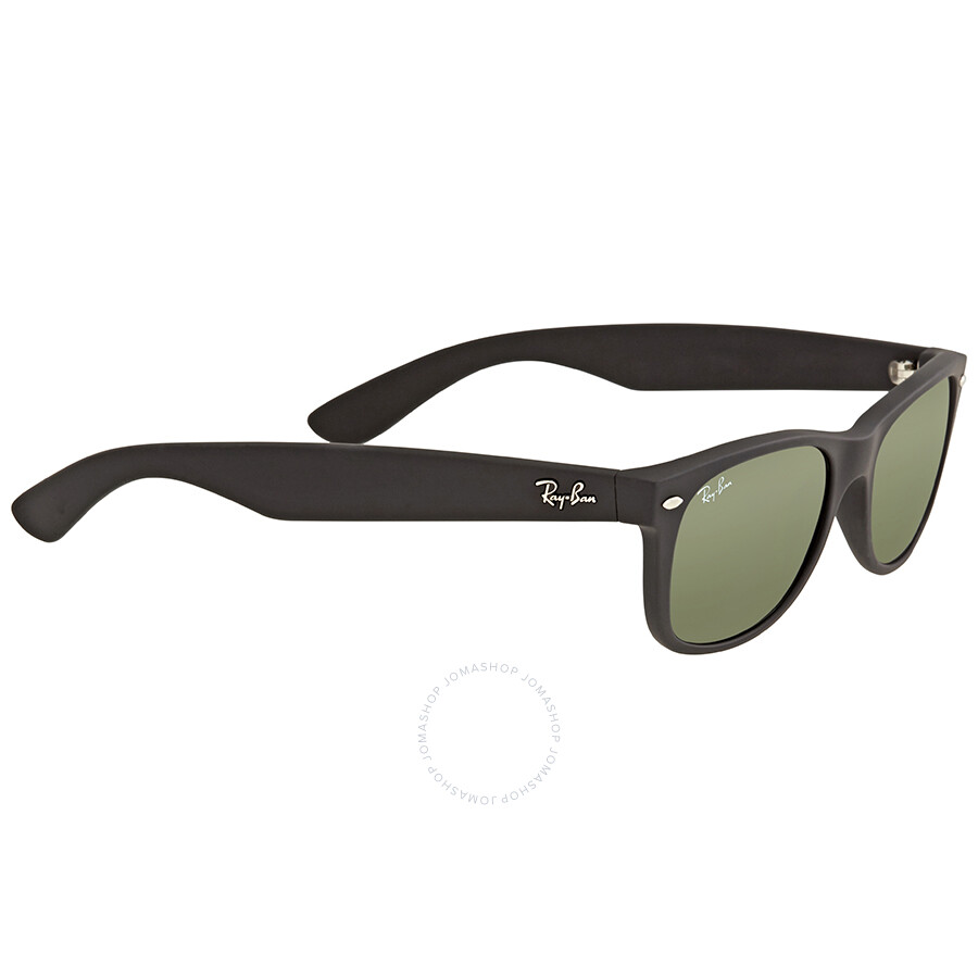 721181339ae ... Ray Ban New Wayfarer Black Plastic Green Crystal 52mm Sunglasses RB2132  622 52-18 ...