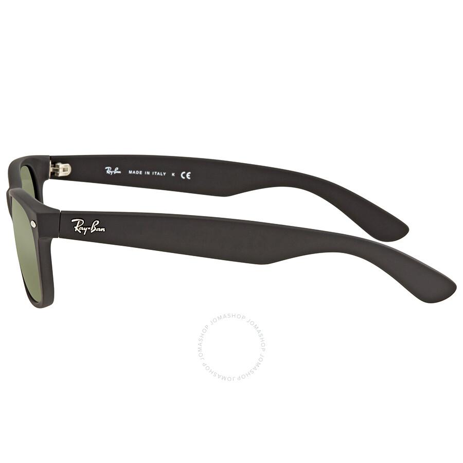 dd84fce2f4 ... Ray Ban New Wayfarer Black Plastic Green Crystal 52mm Sunglasses RB2132  622 52-18 ...