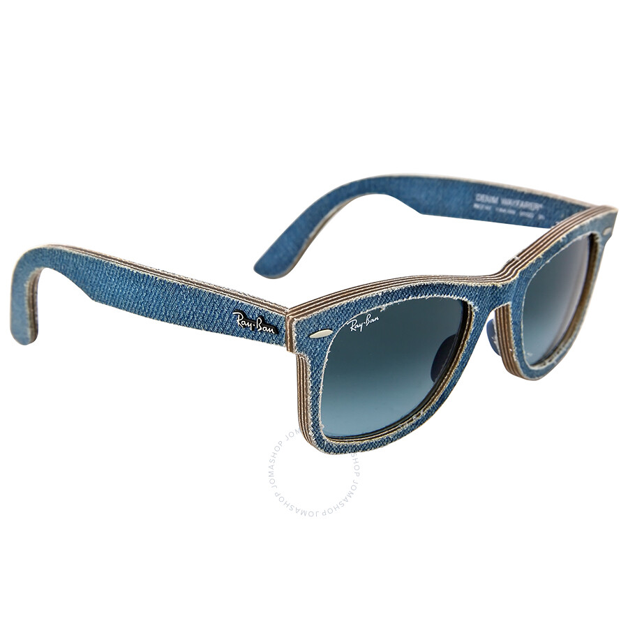 mens ray ban wayfarer sunglasses 2140  ray ban new wayfarer blue denim gradient lens 50mm men's sunglasses rb2140 50 11644m