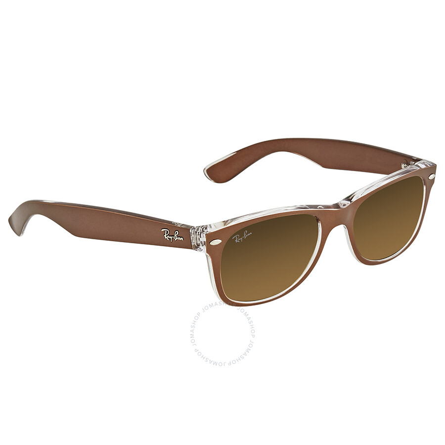 420d28162 Ray Ban New Wayfarer Brown Gradient Men's Sunglasses RB2132 614585 52 ...